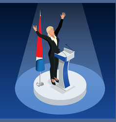 Woman is the winner in the elections vector