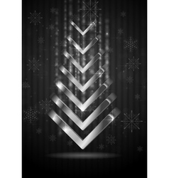 Abstract Christmas fir tree vector image
