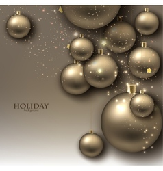 Christmas background with balls Golden Xmas vector image vector image