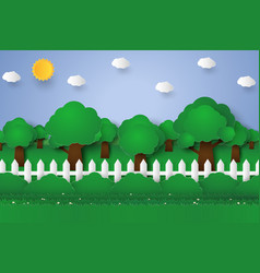 forest landscape nature background paper art vector image vector image