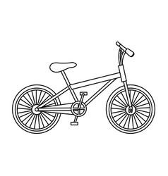 monochrome contour of small sport bike in white vector image vector image