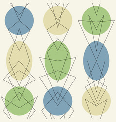 atomic 1950s mid century vintage background vector image vector image