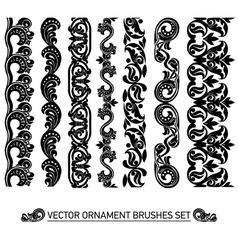 brushes set vector image vector image
