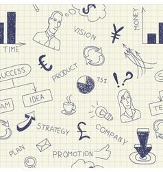 Business ink doodles on paper vector