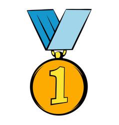 gold medal icon icon cartoon vector image vector image
