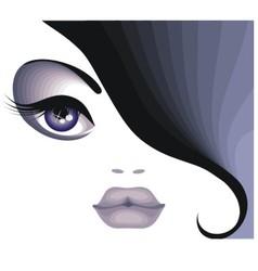 Portrait of a beautiful brunette vector image vector image