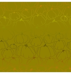 Pumpkins green seamless pattern vector image