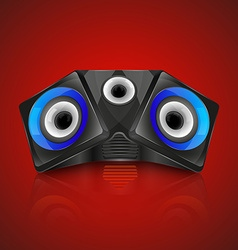 Realistic music speaker vector