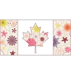Vintage Canada flag 2 vector image