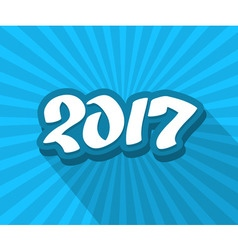 2017 hand drawn blue color text vector image vector image
