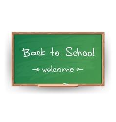 Back to school Wrote in chalk on blackboard vector image