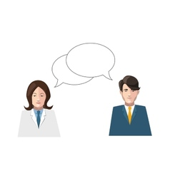 dialogue men and women flat on white vector image vector image