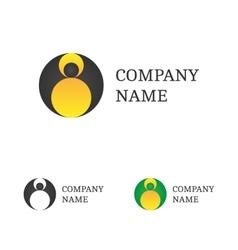 Logo Template Set Flying Bat Logotype vector image