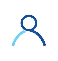 outline man minimal lines logo on light background vector image