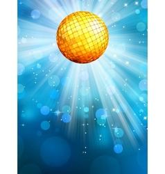 Blue background with disco ball EPS 10 vector image vector image