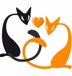 cat lovers vector image vector image