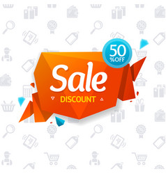 sale label abstract origami bubble speech and vector image vector image