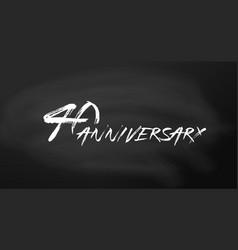 40 anniversary logo concept 40th years birthday vector