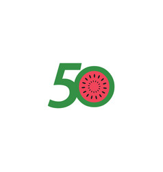 50 year anniversary fruit number template design vector