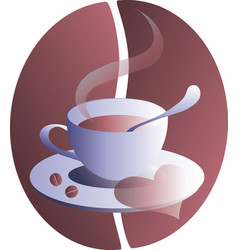 a cup coffee vector image