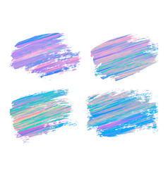Abstract acrylic brush strokes isolated on white vector