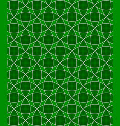 Abstract circles pattern green background vector