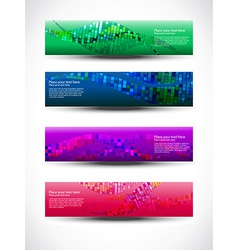 Abstract header set of four vector