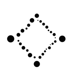 Abstract monochrome minimal dot frame design vector