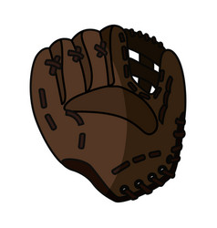 baseball leather glove vector image