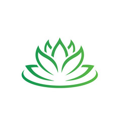 beauty lotus flowers logo image vector image vector image