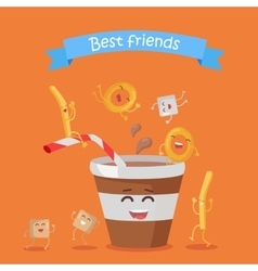 Best Friends Food Banner vector image vector image