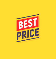 best price promotion banner sale discount vector image