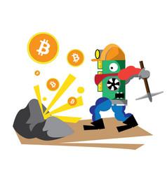 Bitcoin green vector