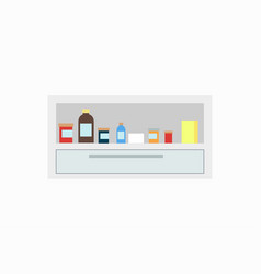 bottles of different colors vector image