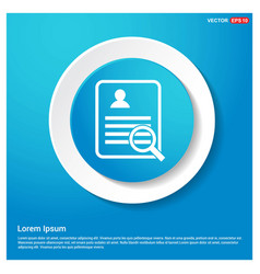 business report icon abstract blue web sticker vector image