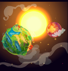 Cartoon colorful earth planet template vector