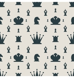 Chess Pieces Seamless pattern vector image