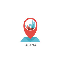 China beijing map pin point icon vector