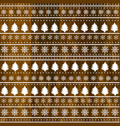 christmas decoration on wooden background vector image