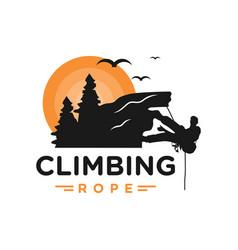 climber logo design vector image