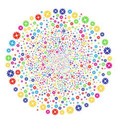 cogwheel salute cluster vector image
