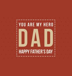 Collection style card for father day vector