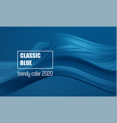 color year 2020 - classic blue fashion vector image