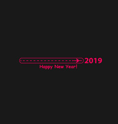 creative happy new year 2019 design with progress vector image