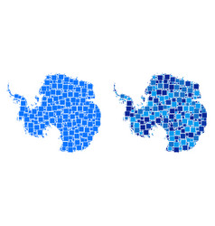 Dot antarctica map with blue version vector