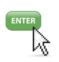Enter Button Click vector image