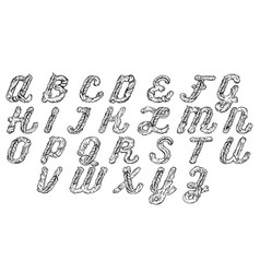fairy hand drawn cute font in baroque style vector image