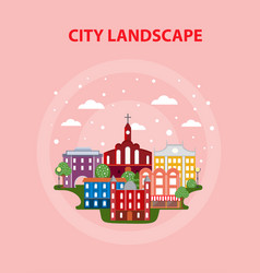 flat urban city poster vector image