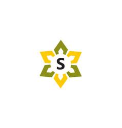 flower infinity letter s vector image