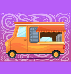 food truck concept banner cartoon style vector image